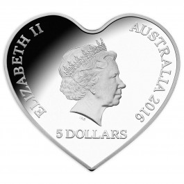 Australian 2016 With Love Heart-Shaped Proof Silver 31.10 g