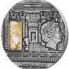 紐埃 2015 皇室藝術系列 - 埃及高浮雕仿古茶晶石銀幣2盎司_39298