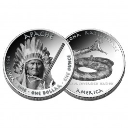 America 2016 Native American Silver Dollars - Apache Proof Silver 1oz