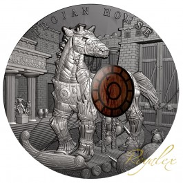 Niue 2016 Ancient Myths - Trojan horse Silver Coin 2 oz