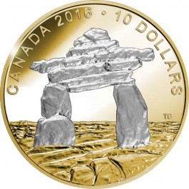 Canada 2016 Iconic Canada-Inukshuk Proof Silver Coin 15.87 g