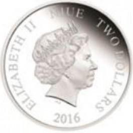 紐埃2016游戲王系列: 武藤遊戲彩色精鑄銀幣 1盎司