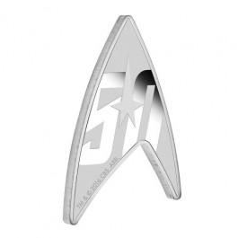 圖瓦盧2016 星際迷航系列50周年三角銀幣1盎司