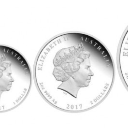 澳洲2017 農曆銀幣系列2- 雞年 精鑄3枚銀幣套裝
