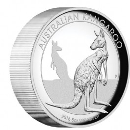 Australia 2016 Kangaroo High Relief Proof Silver Coin 5oz