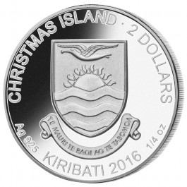 Christmas Islands 2016 SnowMoman Proof Silver 3-coin Set