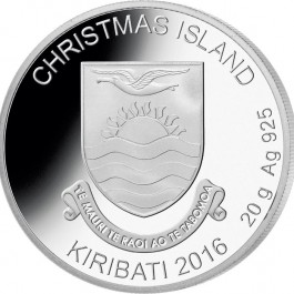 Christmas Islands 2016 Rudolph the Red- Nosed Reindeer Proof Silver 20 g