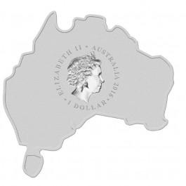 澳洲2016 地圖銀幣系列-澳洲野犬 彩色銀幣1盎司