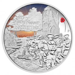 Australia 2017 The ANZAC Spirit 100th Anniversary - Many Never Returned Colored Proof Silver Coin 1 oz