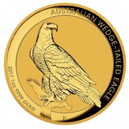 Australia 2017 Wedge-Tailed Eagle HR Gold Coin 1 oz