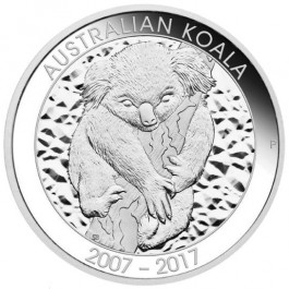 Australia 2017 Koala 10th Anniversary Proof Silver Coin 10 oz