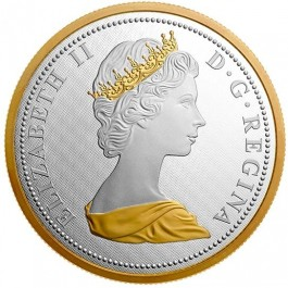 Canada 2017 Big Coin Series - 10 Cent Gold-Plated Proof Silver Coin 5 oz