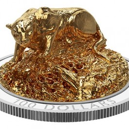 Canada 2017 Sculpture of Majestic Animals - Cougar 3D Gilded Coin 10 oz