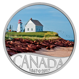 Canada 2017 Celebrating Canada's 150th - Panmure Island Colored Proof Silver Coin 1/2 oz