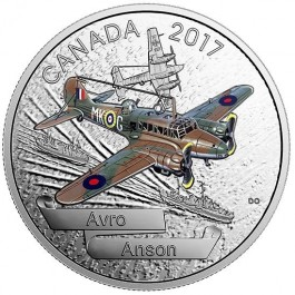 Canada 2017 Aircraft of WWII - Avro Anson Colored Proof Silver Coin 1 oz