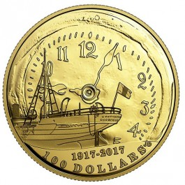 Canada 2017 Halifax Explosion 100th Anniversary Proof Gold Coin 12 g