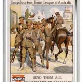 Australia 2017 Posters of World War I - Australian Home League Rectangle Proof Silver Coin 1 oz