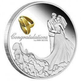 Australia 2017 Wedding Proof Silver Coin 1oz