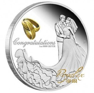 Australia 2017 Wedding Proof Silver Coin 1oz_42928