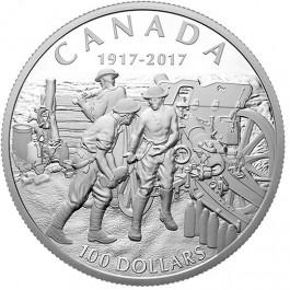 加拿大2017 維米嶺戰役 精鑄銀幣10盎司