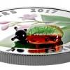 加拿大2017 小生物-羅布麻甲蟲 彩色穆拉諾玻璃精鑄銀幣1盎司_43976