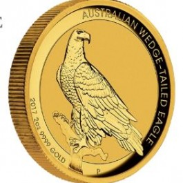 Australia 2017 Wedge-Tailed Eagle HR Gold Coin 2 oz