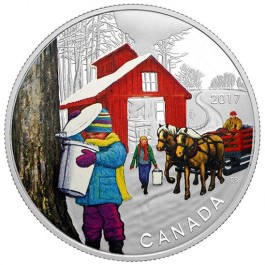 Canada 2017 The Sugar Shack Colored Proof Silver Coin 1/2 oz