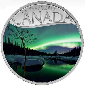 Canada 2017 Celebrating Canada s 150th - Aurora Borealis Colored Proof Silver Coin 1/2 oz_44071