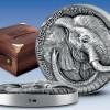 象牙海岸2017 非洲五大-大象 高浮雕仿古銀幣5盎司_44080