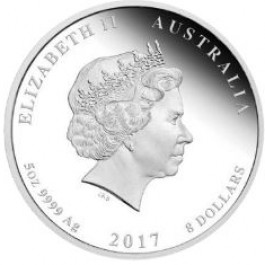 Australia 2017 Henry Lawson 150th Anniversary Colored Proof Silver Coin 5 oz