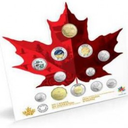 Canada 2017 150 Circulation Cu-Ni Coin 12-Coin Set