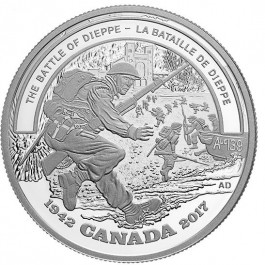 Canada 2017 Second World War Battlefront: Battle of Dieppe Proof Silver Coin 1 oz