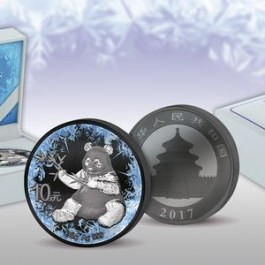 China 2017 Deep Frozen Edition - Panda Ruthenium-Platinum Plated Silver Coin 30 g