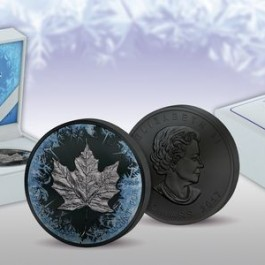 Canada 2017 Deep Frozen Edition - Maple Leaf Ruthenium-Platinum Plated Silver Coin 1 oz