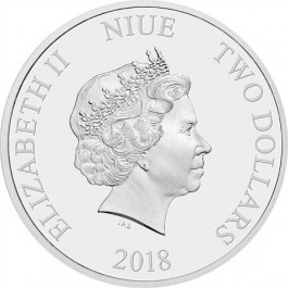 Niue 2018 Disney Princess - Belle Gemstone Coloured Proof Silver Coin 1 oz