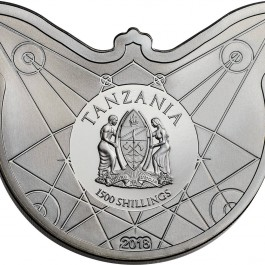 Tanzania 2018 Death's Head Hawkmoth Proof Silver Coin 2 oz