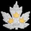 加拿大2017 楓葉系列 - 鍍金楓葉 精鑄銀幣31.39克_44645