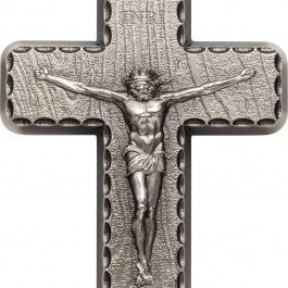 Palau 2018 Crucifix Antiqued Silver Coin 2 oz