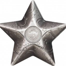 Palau 2018 Twinkling Star Antiqued Silver Coin 1 oz