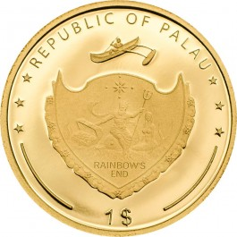 Palau 2018 Love & Peace Gold Proof Coin 0.5 g