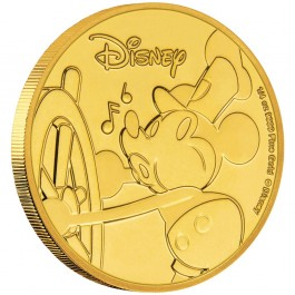 New Zealand 2018 Mickey Mouse 90th Anniversary Proof Gold Coin 1/4 oz