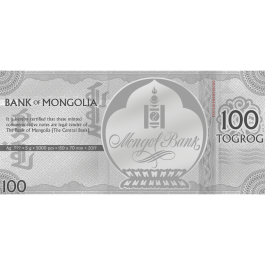 Mongolia 2019 Jolly Pig Silver Prooflike Note 5 g