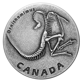 Canada 2017 Ancient Canada - Ornithomimus Antique Proof Silver Coin 1 oz