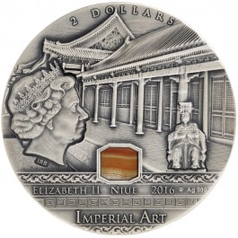 Niue 2016 Imperial Art - China Agate High Relief Silver 2 oz