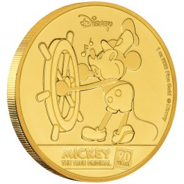 New Zealand 2018 Mickey Mouse 90th Anniversary Proof Gold Coin 1 oz