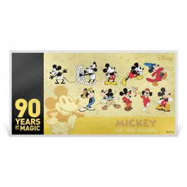New Zealand 2018 Mickey Mouse 90th Anniversary Gold Note 1 g