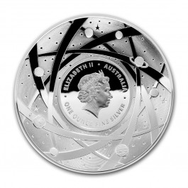 Australia 2018 Earth and Beyond - The Earth Domed Silver Coin 1 oz