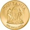 坦桑尼亞2018 鬼臉天蛾精鑄金幣0.5克_45125