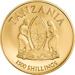 Tanzania 2018 Death's Head Hawkmoth Proof Gold Coin 0.5 g