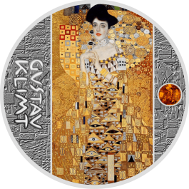 Niue 2018 Portrait of Adele Bloch-Bauer I Coloured Amber Proof Silver Coin 17.5g